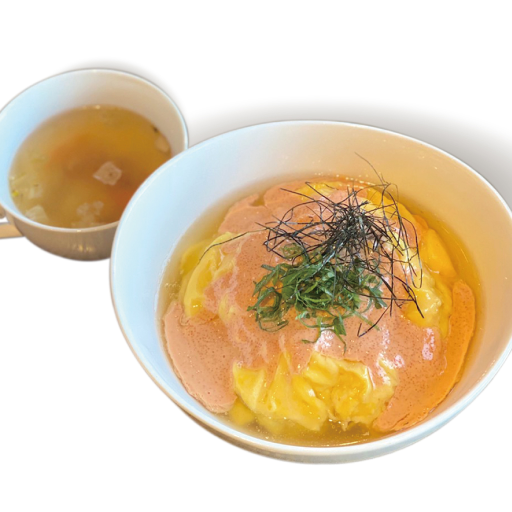 和風明太オムライス(スープ付)